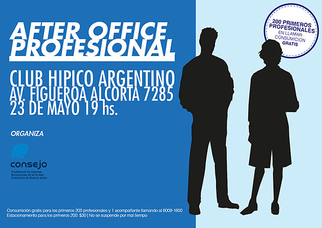 After Office Profesional - 16/04 - 19 hs. Club Hípico Argentino